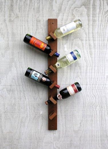 Ahşap Asma Şaraplık-Oldwooddesign